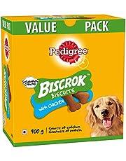 Pedigree Biscrok Biscuits Dog Treats (Above 4 Months), Chicken Flavor, 900g Pack