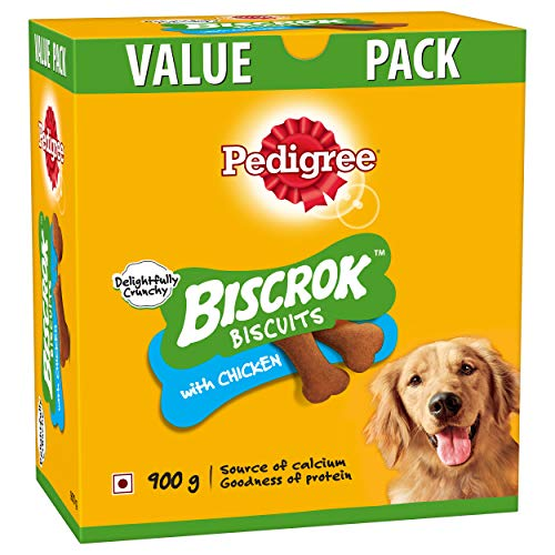 Pedigree Biscrok Biscuits Dog Treats (Above 4 Months), Chicken Flavor, 900g