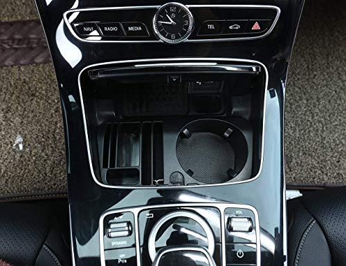 AUTO Pro für Mercedes Benz E-Klasse C207 Coupe 2014-2017, E-Klasse W212 W213 2014-2017, GLC C-Klasse W205 2015-2016, Kunststoff-Zentralkonsole, Aufbewahrungsbox, Becherhalter, Zubehör