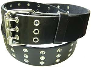 Gürtel mit 3 Dorn Leder pu schwarz 110 - 115 - 125 - 135 cm Bitte schreiben Sie uns die gewünschte Gesamtlänge