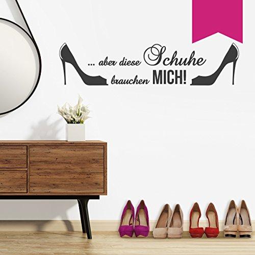 """Wandkings Wandtattoo """"Aber diese Schuhe brauchen mich! (mit 2 High Heels)"""" 60 x 14 cm pink - erhältlich in 33 Farben"""