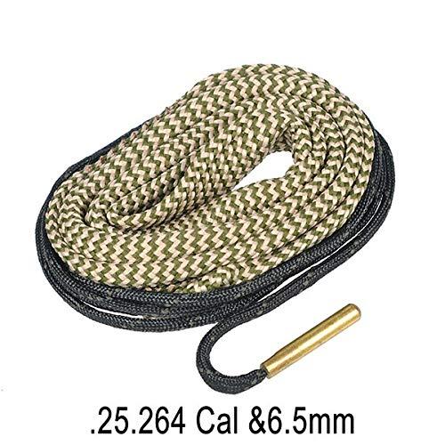 WQ-HUNTING, Hunting Gun Bore Cleaner Snake.22 Cal.223 Cal.38 Cal & 5.56mm, 7.62mm, 12GA Gewehrreinigungsset Tool Rifle Barrel Caliber Snake Rope (Color : 25 264 Cal) -