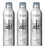 Loreal Air Fix Haarspray 3 x 250 ml extra-starker Halt Tecni.art Styling Haarlack Neue Serie