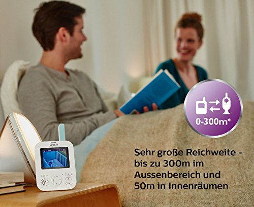 Philips Avent Video-Babyphone, 2,7 Zoll Display, ECO-Mode, 10 Std. Akku, SCD620/26, weiß-türkis - 4