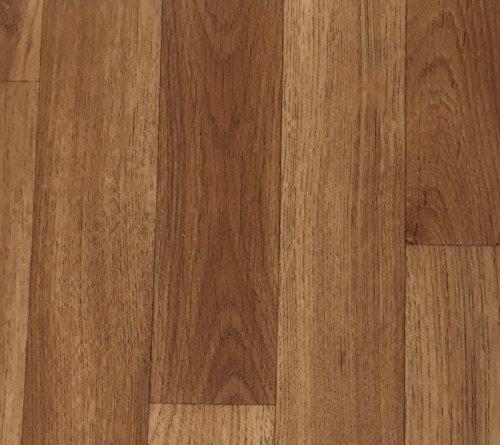 PVC Vinyl-Bodenbelag in Holz Optik Vliesrücken | CV PVC-Belag verfügbar in der Breite 200 cm & in der Länge 150 cm | CV-Boden wird in benötigter Größe als Meterware geliefert | rutschhemmend & robust - Walnuss-holz-bodenbelag