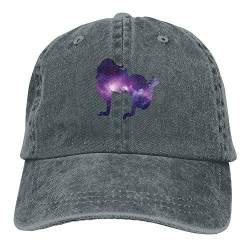 Presock Sexy Starry Woman Denim Hat Adjustable Men's Washed Baseball Hat Low-profile Wall Mount Rack