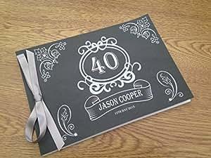Livre d'or de mariage personnalisé pour anniversaire de retraite tableau GB039 m