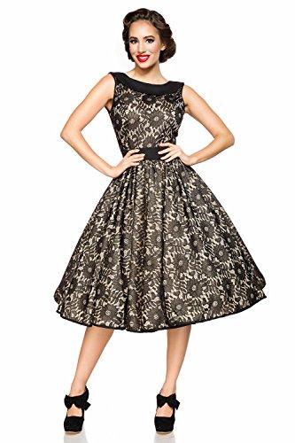 Belsira Damen Vintage-Spitzenkleid im Retro Look M - 3