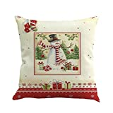 Kavitoz Hot Sale! Christmas Pillow Case, Printing Dyeing Sofa Bed Home Decor Xmas Pillow Cover Festival Party Coffee Cushion Cover 45cmx45cm By (E)