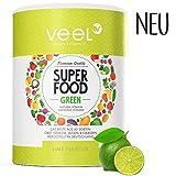Multivitamin Superfood mit Acai, Matcha Tee & Spirulina Pulver | Für Protein Shake oder Smoothie | Vitamine, Mineralstoffe, Chlorella & Leinsamen | Mit Stevia – VEEL SUPERFOOD LIME