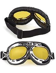 TOOGOO (R) 2 x Gafas de Proteccion Moto Motocross Lentes Amarillos Seguridad