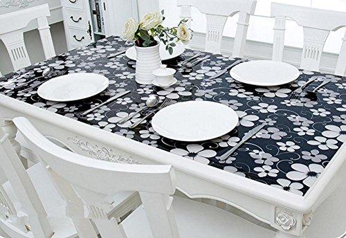 Weiche Glas PVC Tischdecke Wasserdichte Anti-hot TischdeckeTransparent Tischsets Kunststoff Pads Kristallplatte Kaffee-Matten , 005 , 70*120 cm