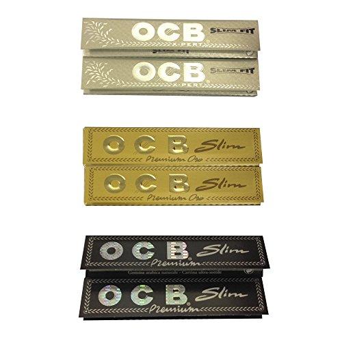 'OCB' PRO ROLLEND SAMMLUNG (6 PACKS) - OCB GOLD x2, SILBER x2, SCHWARZ x2