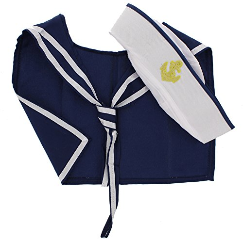 Fancy Dress Sailor Hat & Scarf Set