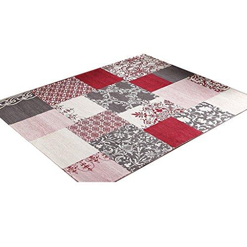 cyalz-grigio-rosso-acrilico-lattice-moderna-rurale-stile-tessile-per-la-casa-porta-parlor-bagno-cuci