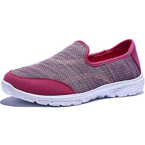 Madaleno Damen Sportschuhe Atmungsaktiv Laufschuhe Sneaker Atmungsaktiv Leichte Mesh Turnschuhe (Schlüpfen)