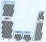 Cubierta Antideslizante para Pedal de Freno de Combustible de Coche para E30, E36, E87, E46, E90, E91, E92,E93 (Plata)