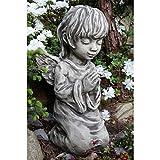 Vidroflor Gartenfigur | Engel MTHRA | betend | H/B: 36/15 cm | 8,5 kg | aus massivem Steinguss