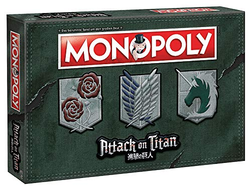 Attack on Titan - Monopoly - Deutsche Version (Titan Attack Spielzeug)