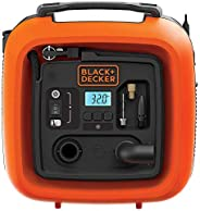 Black+Decker 12V 160 PSI Portable Electric Air Inflator Compressor for Bike, Cars, Inflatables and Sports Ball
