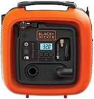 ضاغط هواء كهربائي محمول 12 فولت 160 بي إس آي من بلاك + ديكر للدراجات الهوائية والكرات الرياضية، برتقالي/أسود -