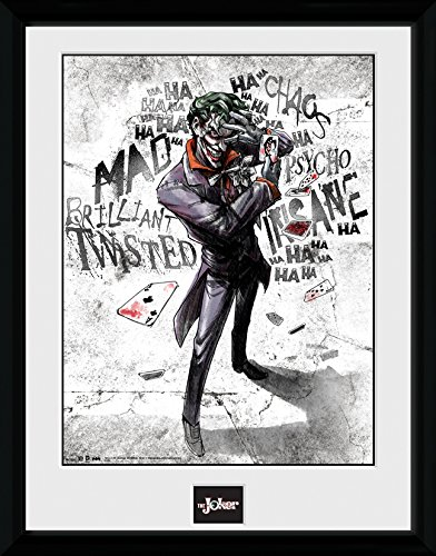 DC-Comics-Batman-Comic-Joker-Type-Framed-Photograph-Multi-Colour-16-x-12-inch