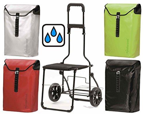 Andersen Komfort Shopper Ortlieb wasserdicht ausklappbarer Stuhl Einkaufstrolley (Rot)