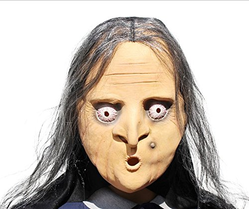 Li-an-ca Halloween Scary Maske Geist Performances Scary Maske Party Kostüm Kleid Purge Masken (Hexe)
