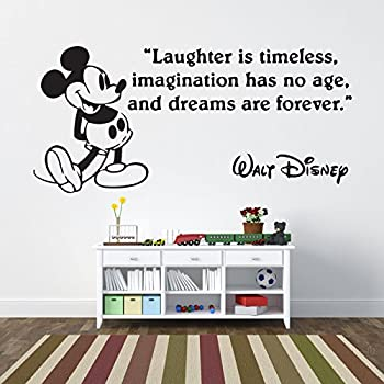 Mickey Mouse Laughter Is Timeless Childrenu0027s Wall Sticker Vinyl Mural Wall  Art Décor   Regular Size Part 16
