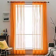 Amazon.es: cortina comedor naranja