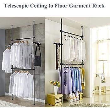 tophomer teleskop kleiderschrank teleskop garderoben system kleideraufbewahrung veranstalter. Black Bedroom Furniture Sets. Home Design Ideas