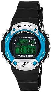 Sonata Digital Grey Dial Men's Watch - NG7982PP04J