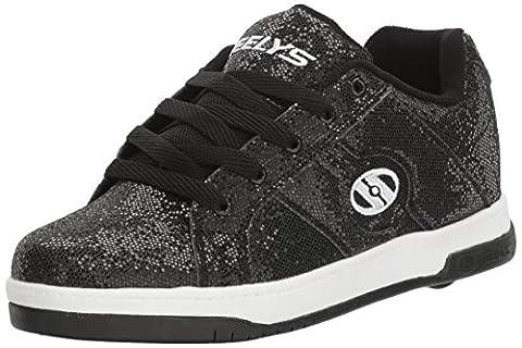 Heelys Split, Chaussures de Tennis Enfants Unisexe, Noir (Black Disco Glitter), 32 EU