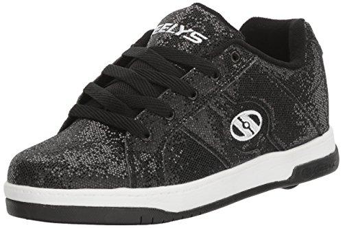 Heelys Split, Sneakers basses fille Noir (Black Disco Glitter)
