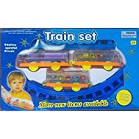 JAY ANTIQUES Train Set Battery Operated Track Toy Train for Kids