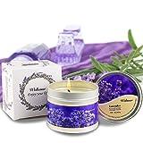Corpo olio da massaggio per uomini e donne, Massage Candle & Lavender Hot oil cera di soia arricchito con olio di cocco, nutrire e bellezza della pelle–170,1gram