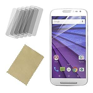 InventCase Motorola Moto G 2015 (3ème génération) XT1541 Guard Protecteur d'écran avec chiffon de nettoyage (5-pack)