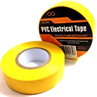 Cinta aislante PVC (19 mm x 20 m, eléctrica, 5 unidades), color amarillo
