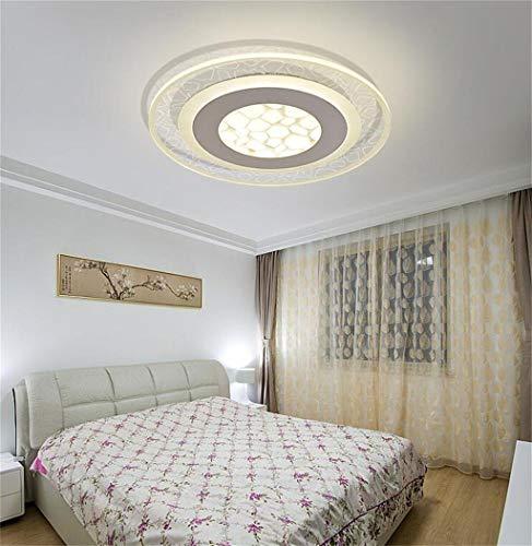 Habitación de matrimonio habitación personalidad creativa techo circular de techo led cubo de agua caliente moderno minimalista den Techo (Tamaño : 52cm)