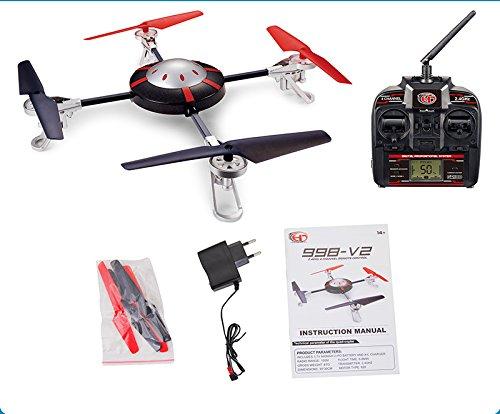 Cascacavelle 998-v2 Quadcopter 4 Kanal 2.4 ghz mit Spycam 2.4ghz mit neuester Kreisel-Technologie + LCD Fernbedienung by