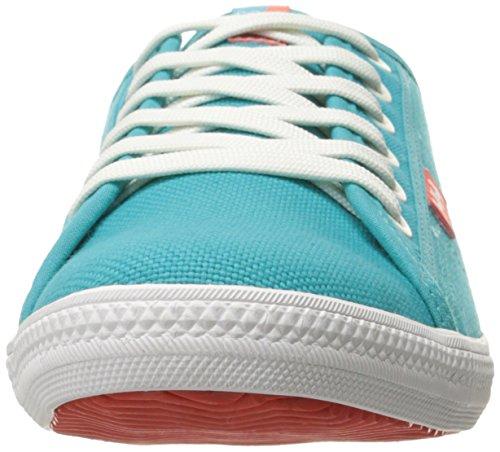 Helly Hansen Oslo Fjord Canvas, Damen Sneakers Azul / Blanco (252 Aquamarine / Off White / S)
