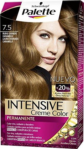 592a7829f9 Schwarzkopf Palette Intense Coloración Permanente Tono 7.5 Rubio Dorado  Caramelo - 1 ud de 115 ml