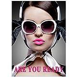 Bild Deko zeigt Oberflächenbehandlung 50x 70–Are You Ready Damen