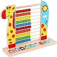 Bebé ábaco de Madera Animal Colorido Soporte de cálculo Digital Juguetes para niños Soporte de ábaco aritmétic