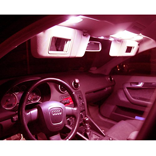 Preisvergleich Produktbild LED Innenraumbeleuchtung Set- 5730 SMD plug and play - Lichtpaket erhältlich in Farben weiß blau rot grün gelb pink | rot