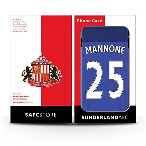 Offiziell Sunderland AFC Hülle / Gel TPU Case für Apple iPhone 4/4S / Pack 24pcs Muster / SAFC Trikot Home 15/16 Kollektion Mannone
