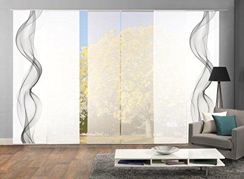 HOME WOHNIDEEN Set-Angebot Flächenvorhänge Edmonton, Set-Größen, inkl. hochwertigem Zubehör (6,...