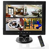 BW 12 Zoll CCTV-TFT LCD Monitor CCTV-Monitor Computer-Monitore mit AV / HDMI / BNC / VGA-Eingang PC CCTV-Kamera Sicherheit DVR-Systeme (Highlight LED / CCFL-Lampen, 450cd / M2, 800 * 600 Auflösung)