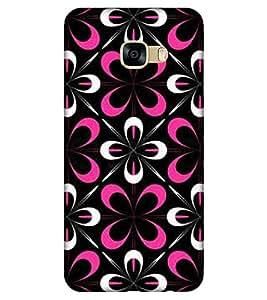 For Samsung Galaxy C5 SM-C5000 floral pattern ( flower pattern, flower, black background ) Printed Designer Back Case Cover By TAKKLOO