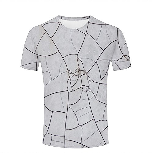 Men 3D Printed Fashion T-Shirts Abstract Creative Line Gray Graphic Casual Short Sleeve Shirts Novelty Tees L (Volcom-zeichen)